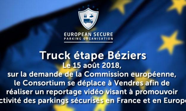 Le 15 août 2018, sur la demande de la Commission européenne, le Consortium se déplace à Vendres afin de réaliser un reportage vidéo visant à promouvoir l'activité des parkings sécurisés en France et en Europe.