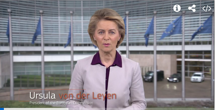 Message by Ursula von der Leyen, President of the European Commission, on the European response to the coronavirus: